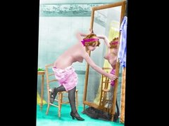 Colored Edwardian Postcards 2  - Sexy Miss Fernande