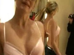 Amateur blonde gf blowjob and facial in dressing room
