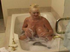 Woman on bath...