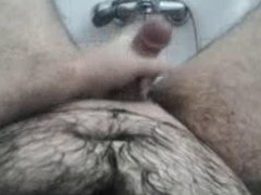 Just shaved and cumming during the bath