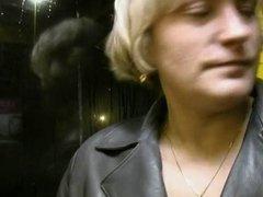 Flashing and sucking on the subway