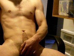 Jerking Off with Big Load