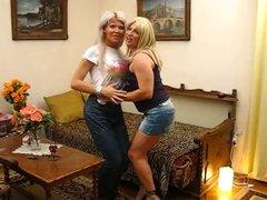 Blonde Tgirl Lesbians Mutual Blowjobs