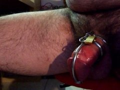 Inserting dilator chastity device