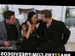 Vanilla Devile gets double teamed by her husband's friends
