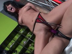 Hot strapon sex with Sunny Leone