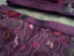 3 cumshots on super cute panties!
