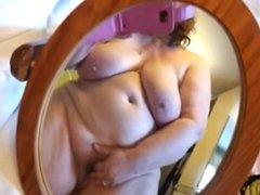 BBW cumming on phone cam 2