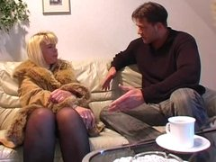 Blonde mature with younger guy