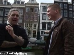 Horny German guy comes to Amsterdam