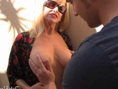 Horny Mom Seduces Her Son's friend and getting all his cum