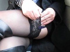 She keeps her train ticket in stockings 1