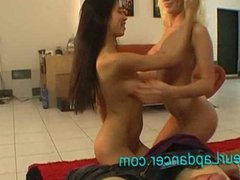 Extremely hot czech chick doing double lapdance