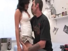 Black haired with glasses fucked in a threesome