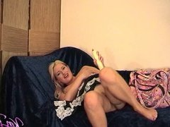 British pornstar Kaz B plays in her maids outfit