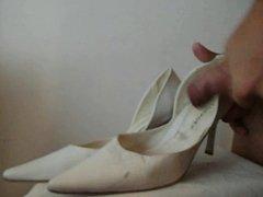 Cum on Friend white Shoes