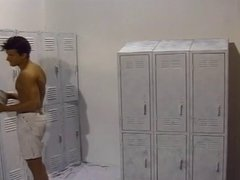 Perverted studs hot anal drilling in locker room