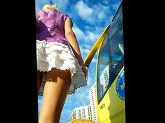 Upskirt Blonde Teen Panties