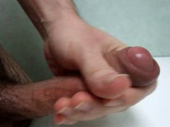stroking and cumming