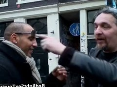 Horny Colombian guy comes to Amsterdam