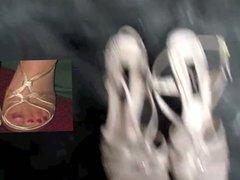 Cum on Bride's Heels