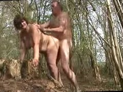 My wife fucked in the forest