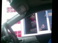 Drive through lady gets mad
