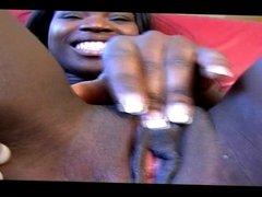 Black teen 18 Y.O porn casting : cute & shy french girl