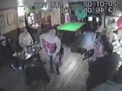 BBW pub stripper goes all dominatrix on old men