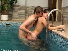 Sauna wild sex action