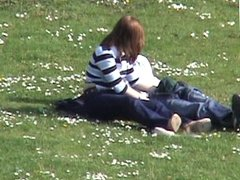 Fingering and wanking in the park