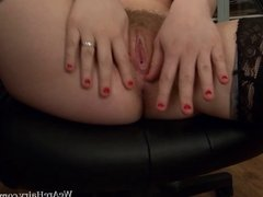 Hairy Laura Kaye is a very horny hairy girl