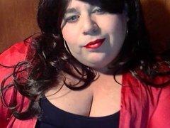 BBW Sissy Diane smoking yet again