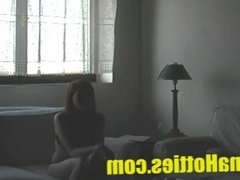 Czech redhead shows her body at the casting