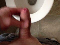 wank in toilet