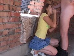 Horny Polish Students go After College to a Secluded Place