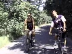 SHORT HAIRED CYCLIST ANAL THREEWAY