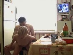 Amateur Mature Couple Fucking In The Kitchen