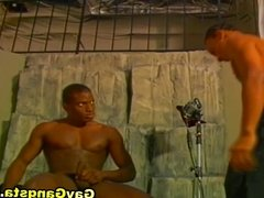 Black Gay Drilling Dildo Pictorial