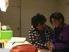 Hidden cameras in the girl student's room