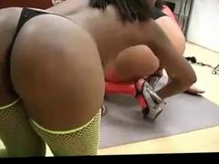 Ebony bitches taking cock like pros