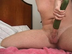 cumshot with cucumber