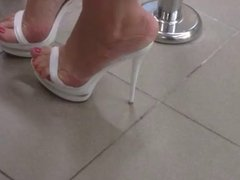 high heel mules