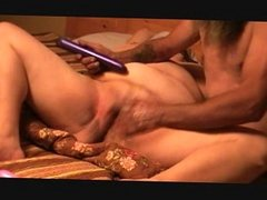 fist in pussy toy on clit