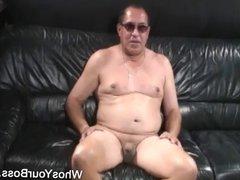 Older man getting tortured by a busty femdom