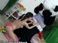 teddy bear girl to suck dick