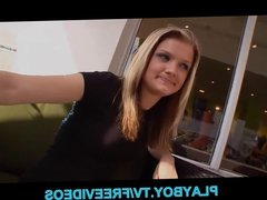 Shy blonde teen is talked into make a sextape