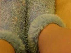 foot in glove job