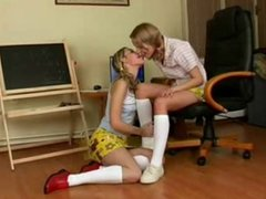 Lesbian girls pleasing each other