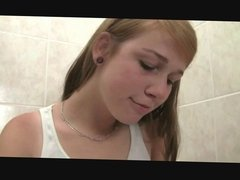 2 cute lesbians with a dildo and single Redhead fingering